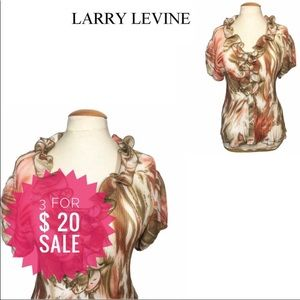 Signature By Larry Levine Ruffled Blouse S-M